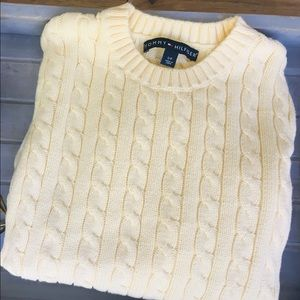Tommy Hilfiger Cable-Knit Crew Neck Sweater